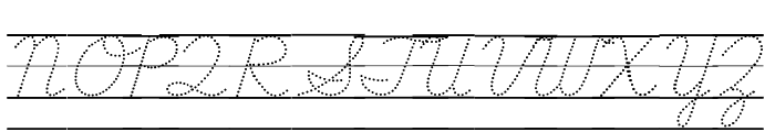 DmoDNCursiveDotLine Font UPPERCASE