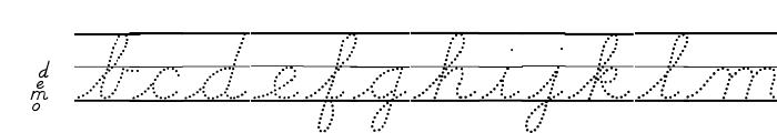 DmoDNCursiveDotLine Font LOWERCASE