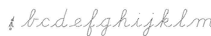 DmoDNCursiveDot Font LOWERCASE
