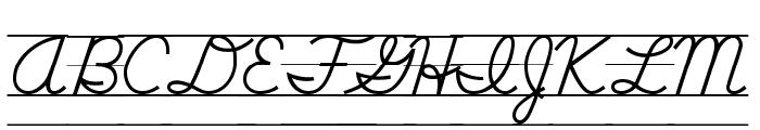 DmoDNCursiveLine Font UPPERCASE