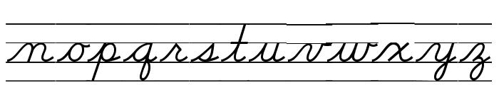 DmoDNCursiveLine Font LOWERCASE