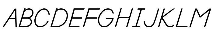 DmoDNPrint-Regular Font UPPERCASE