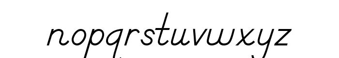 DmoDNPrint-Regular Font LOWERCASE