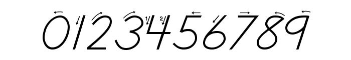 DmoDNPrintArrow Font OTHER CHARS