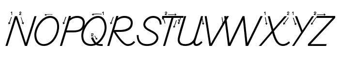 DmoDNPrintArrow Font UPPERCASE