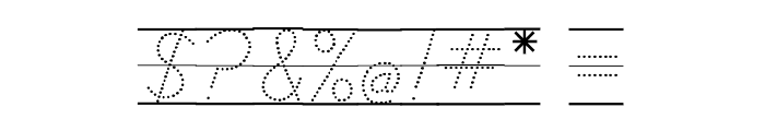 DmoDNPrintArrowDotLine Font OTHER CHARS