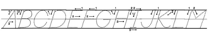 DmoDNPrintArrowDotLine Font UPPERCASE