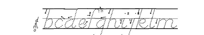 DmoDNPrintArrowDotLine Font LOWERCASE