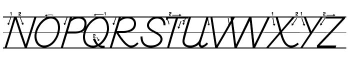DmoDNPrintArrowLine Font UPPERCASE
