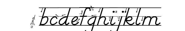 DmoDNPrintArrowLine Font LOWERCASE