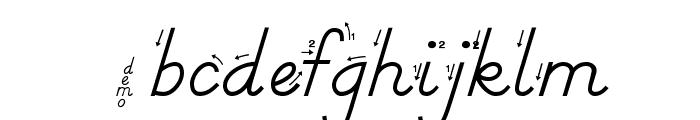 DmoDNPrintArrow Font LOWERCASE