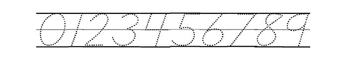DmoDNPrintDotLine Font OTHER CHARS