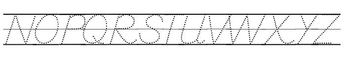 DmoDNPrintDotLine Font UPPERCASE