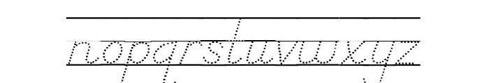 DmoDNPrintDotLine Font LOWERCASE