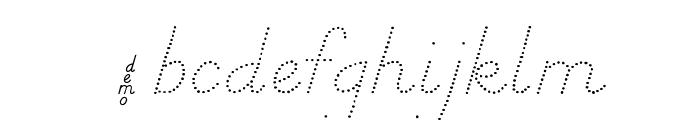 DmoDNPrintDot Font LOWERCASE