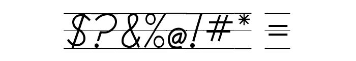 DmoDNPrintLine Font OTHER CHARS