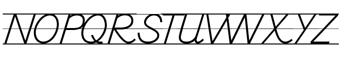 DmoDNPrintLine Font UPPERCASE