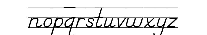 DmoDNPrintLine Font LOWERCASE