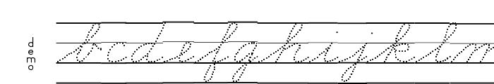 DmoZBConnectDotLine Font LOWERCASE