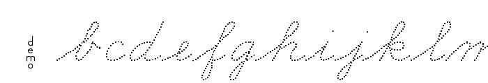 DmoZBConnectDot Font LOWERCASE