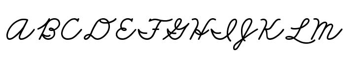 DmoZBCursive-Bold Font UPPERCASE