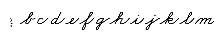 DmoZBCursive-Bold Font LOWERCASE