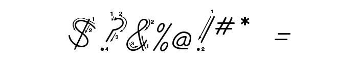 DmoZBCursiveArrow Font OTHER CHARS