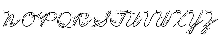 DmoZBCursiveArrow Font UPPERCASE