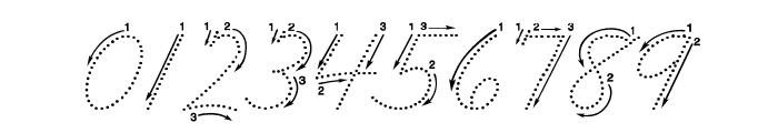 DmoZBCursiveArrowDot Font OTHER CHARS