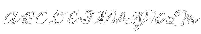 DmoZBCursiveArrowDot Font UPPERCASE