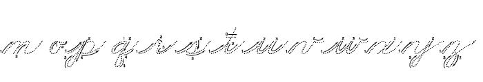 DmoZBCursiveArrowDot Font LOWERCASE