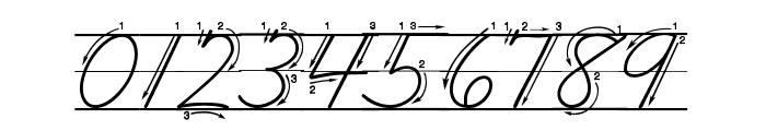 DmoZBCursiveArrowLine Font OTHER CHARS