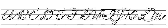 DmoZBCursiveArrowLine Font UPPERCASE