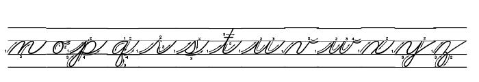 DmoZBCursiveArrowLine Font LOWERCASE