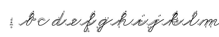 DmoZBCursiveArrow Font LOWERCASE