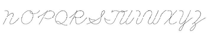 DmoZBCursiveDot Font UPPERCASE