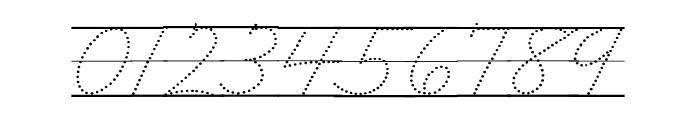 DmoZBCursiveDotLine Font OTHER CHARS