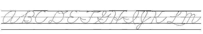DmoZBCursiveDotLine Font UPPERCASE
