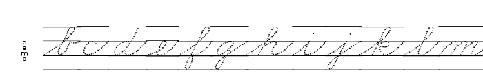 DmoZBCursiveDotLine Font LOWERCASE