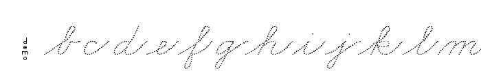 DmoZBCursiveDot Font LOWERCASE