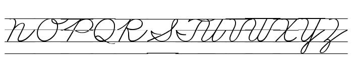 DmoZBCursiveLine Font UPPERCASE