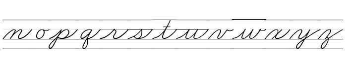 DmoZBCursiveLine Font LOWERCASE