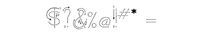 DmoZBPrintArrowDot Font OTHER CHARS