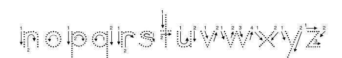 DmoZBPrintArrowDot Font LOWERCASE