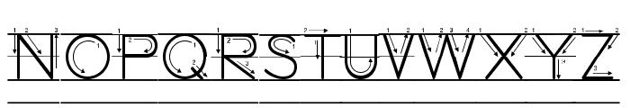 DmoZBPrintArrowLine Font UPPERCASE