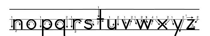 DmoZBPrintArrowLine Font LOWERCASE