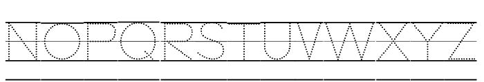 DmoZBPrintDotLine Font UPPERCASE