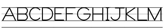 DmoZBPrintLine Font UPPERCASE