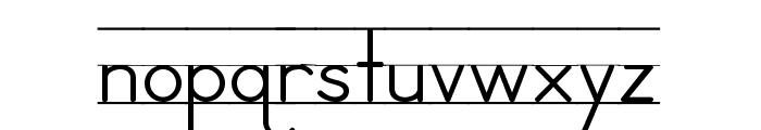 DmoZBPrintLine Font LOWERCASE