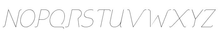 DNNR  LightItalic Font UPPERCASE
